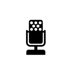 music microphone flat icon vector image