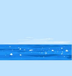 ocean pollution vector image