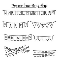 paper bunting flag graphic design vector image