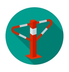 Parking construction barricade icon in flat style vector