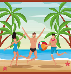 people and summer vector image