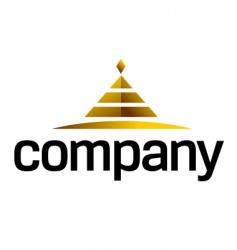piramide logo vector image