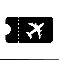 plane ticket icon design vector image