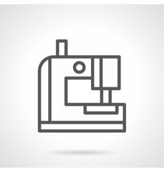 Portable sewing machine black line icon vector