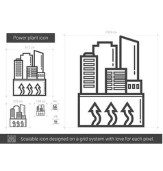 power plant line icon vector image