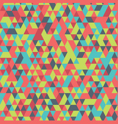 retro colorful geometric triangle seamless vector image