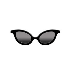 Retro women s cat eye sunglasses with black lenses vector