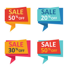 sale and discount banners vector image