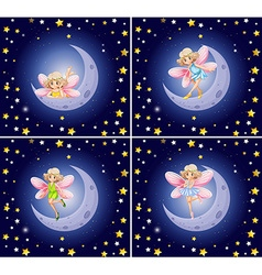 Scenes with fairy and stars vector image