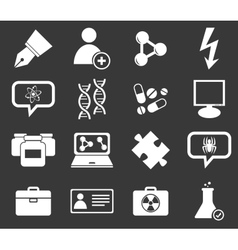Science icon set 6 monochrome vector