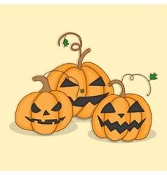 Set pumpkins for Halloween vector