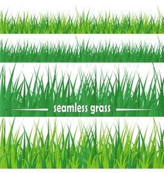 Set seamless grass vector