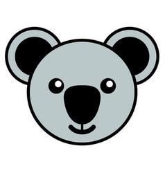 simple cartoon a cute koala vector image