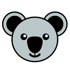 simple cartoon of a cute koala vector image