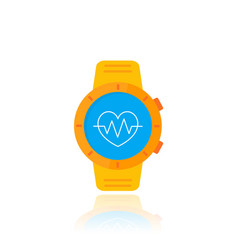 Smart watch orange version vector