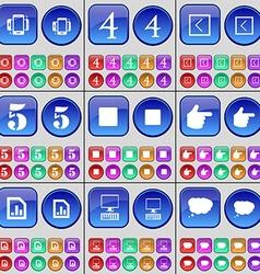 Smartphone Four Arrow left Five Media stop Hand vector image
