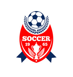 Soccer team football club icon vector