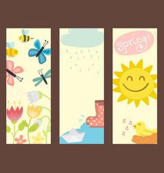 spring banner natural floral symbols with vector image