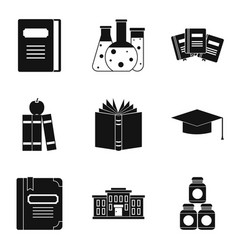 standing icons set simple style vector image