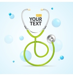 Stethoscope medical concept vector