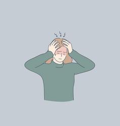 Stress headache depression concept vector