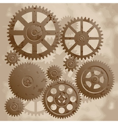 The old gears vector