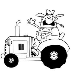Tractor cartoon vector