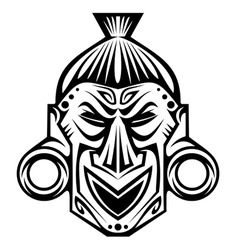 Tribal mask vector