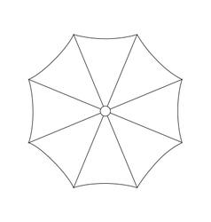 umbrella on white background vector image