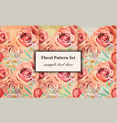 vintage floral pattern background grunge vector image