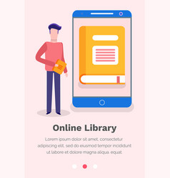 website for reading books online vector image