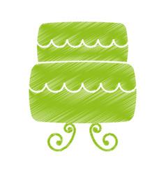 Wedding cake isolated icon vector