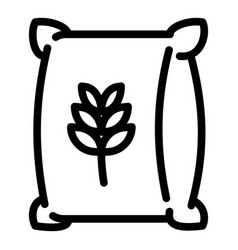 wheat sack icon outline style vector image