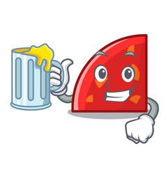 With juice quadrant mascot cartoon style vector