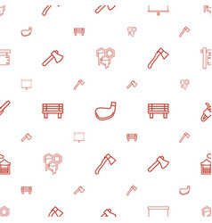wood icons pattern seamless white background vector image