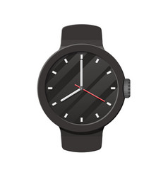 Wristwatch check the time time on wrist watch vector