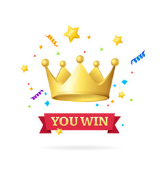 you win success achievement concept vector image