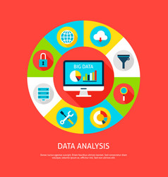 data analysis concept vector image vector image