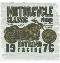 Motorcycle Racing t-shirt - vector image vector image