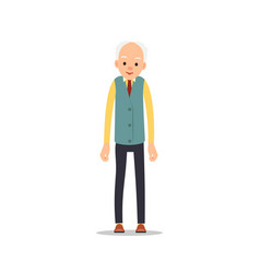 old man elderly man is stand and keeps drooping vector image vector image