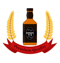 premium quality whiskey whiskey bottle vector image