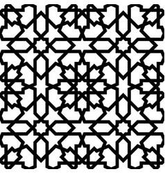 seamless arabic geometric ornament vector image