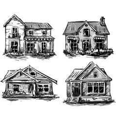 Set of private houses vector image vector image