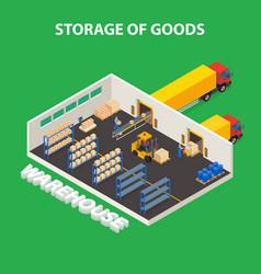 storage of goods design concept vector image vector image
