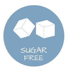 sugar free label food intolerance symbols vector image