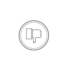 thumbs down dislike hate or thumbs down dislike vector image