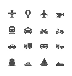 Transportation icons vector