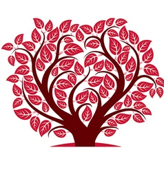 tree with branches in the shape of heart vector image vector image