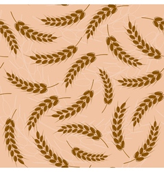 wheat Seamless pattern vector image