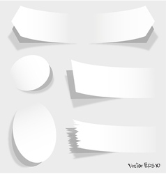 white of advertising coupons vector image vector image